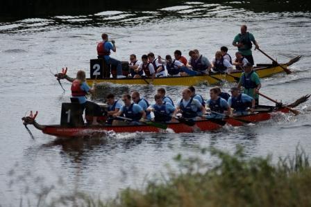 Dragon Boats at Downham Market Water Festival
