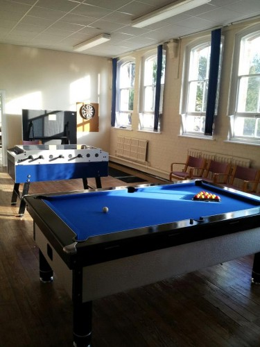 pool table and table football at new Downham Market Youth Centre