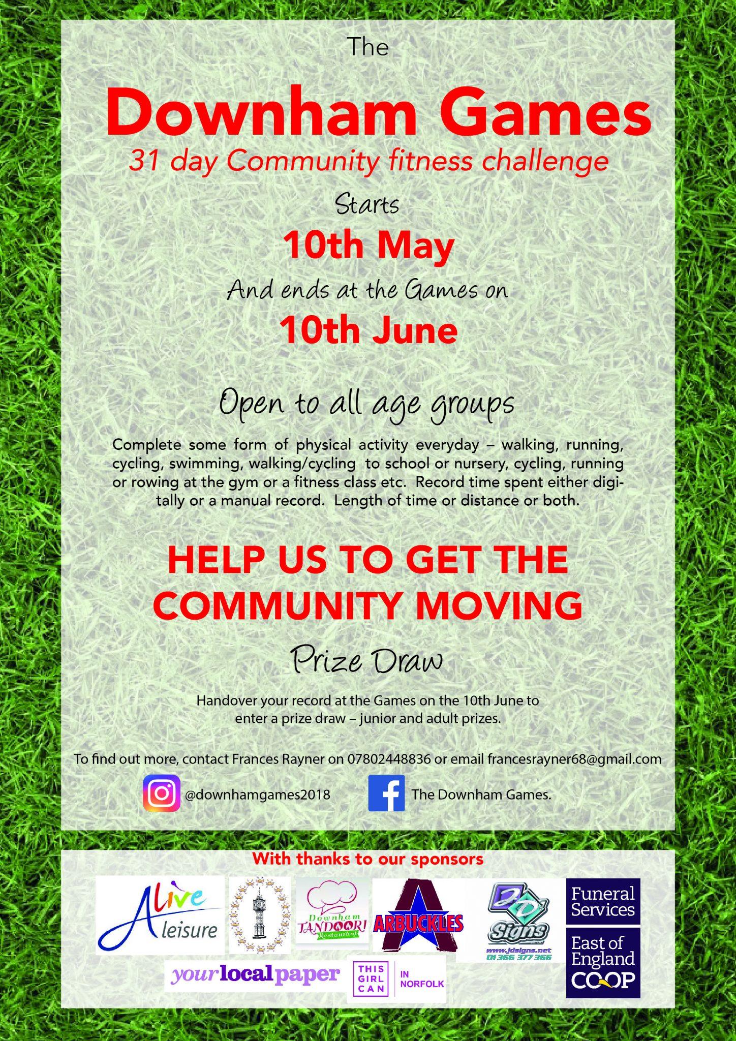 Downham Games - Community Fitness Challenge - downhamweb