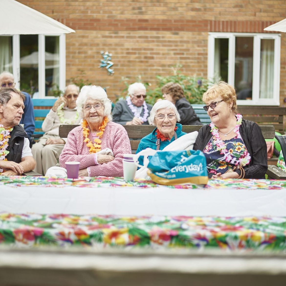 Residents enjoying Care Home Open Day at Diamond House